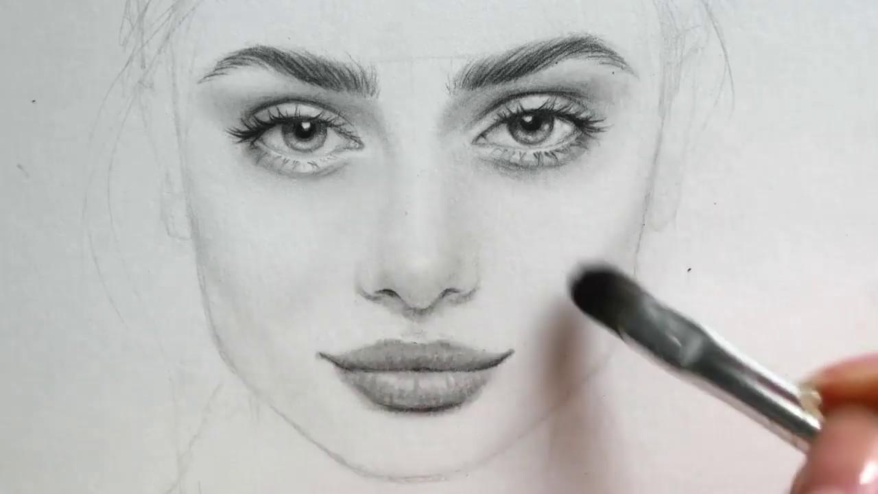 تعلم رسم الوجه بالقلم الرصاص للمبتدئين مع خطوات سهلة وبسيطة Youtube