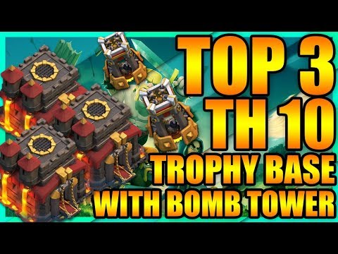 Clash Of Clans - BEST TOP 3 Town Hall 10 (TH10) Trophy Base 2018 + Defense Replays | ANTI 2 STAR