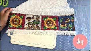 Toalha Decorada Sem Costura, Fácil de Fazer – Artesanato DIY