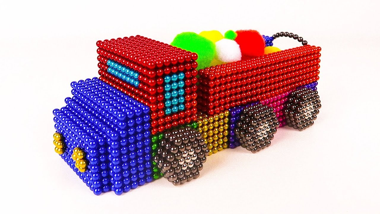 DIY - How To Make Truck Car From Magnetic Balls ( Satisfying ) | Amazing Magnet World