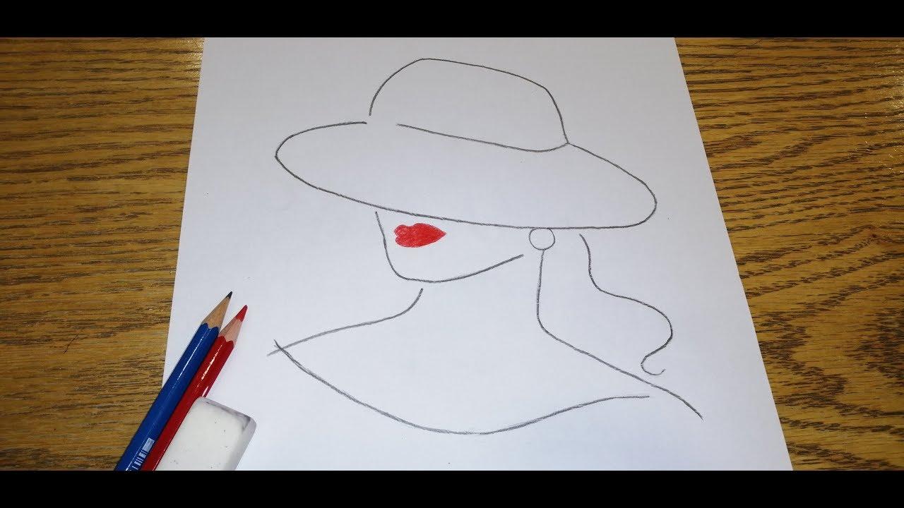 رسم بنت سهل جدا خطوة بخطوة How To Draw A Girl Step By Step Very