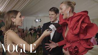 Karlie Kloss on Her Rose-Inspired Met Look | Met Gala 2021 With Emma Chamberlain | Vogue