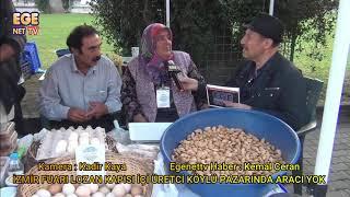 İzmir Fuarı Lozan kapısı içi  Üretici köylü pazarında aracı yok