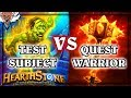 Quest Warrior VS Test Subject ~ Hearthstone The Boomsday Project