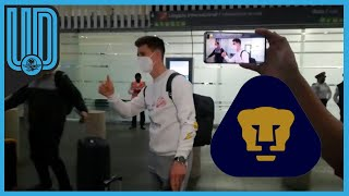 El mediocampista Facundo Waller llegó para reportar con el Club Universidad