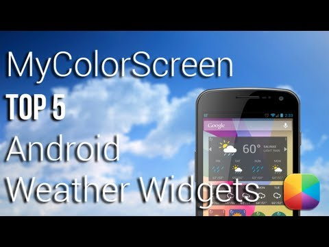 Top 5 Weather Widgets For Android