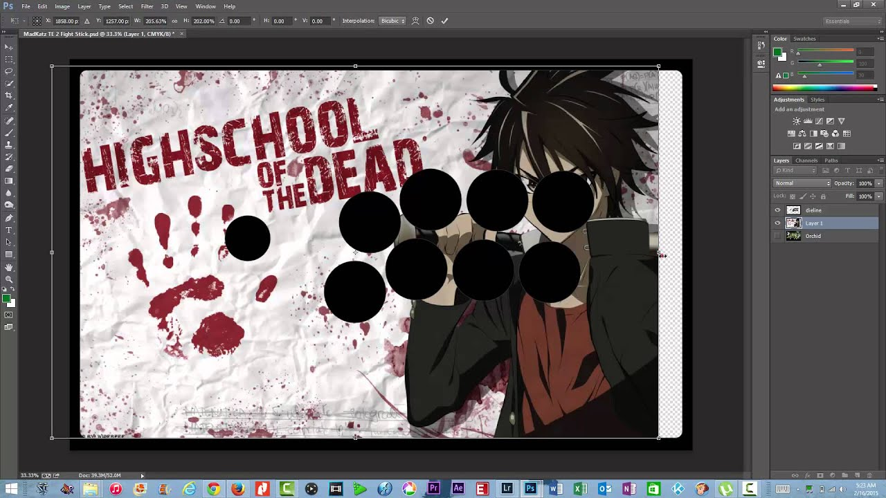 madcatz te 2 fight stick how to add artwork and print adobe
