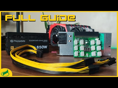 Using Server Powersupplies For Your Mining Rig FULL Guide | Ft. Cursed Mining