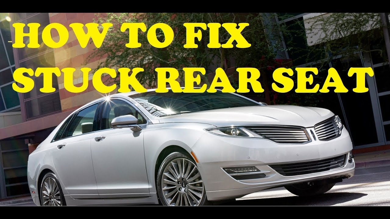 HOW TO How To Fix Stuck Rear Seat Seatbelt On Lincoln MKZ Tip Of The Day 002