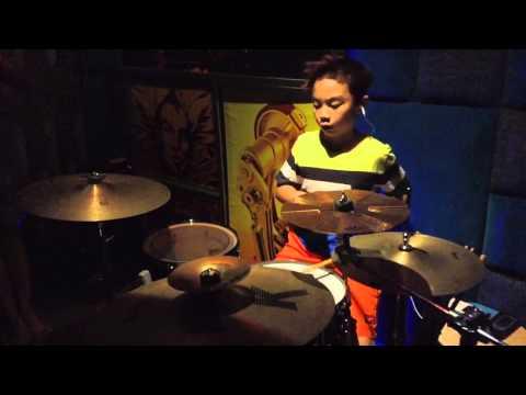 Rayner drumming : Pelangi dan Mimpi by Coboy Junior ( ost Laskar Pelangi 2 Edensor )