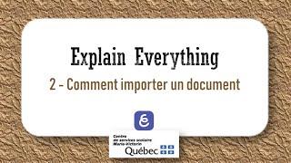 2  Comment importer un document