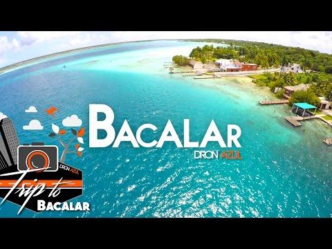 Bacalar Quintana Roo desde el aire / #1 llegando a Bacalar /  Dron Azul