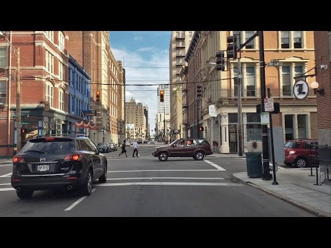 Driving Downtown - City Center - Cincinnati Ohio USA