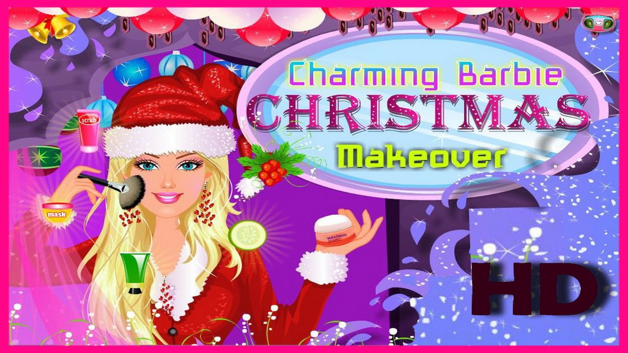Beauty Makeover Games-Charming Barbie Christmas Makeover Video ...