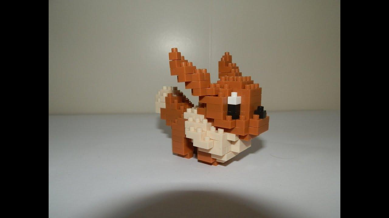 Pokemon Nanoblock Building Eevee Youtube