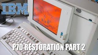 IBM PS/2 P70 Restoration and Demo (gas plasma display) - Part 2!