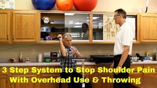 3 Step System t๐ Stop Shoulder Pain With Overhead Use & Throwing