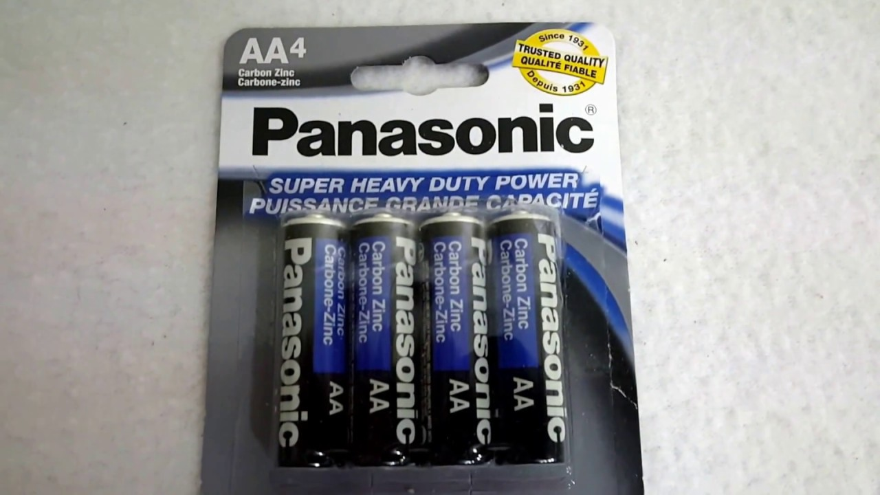 Panasonic AA Super Heavy Duty Power Carbon Zinc Batteries NEW Sealed