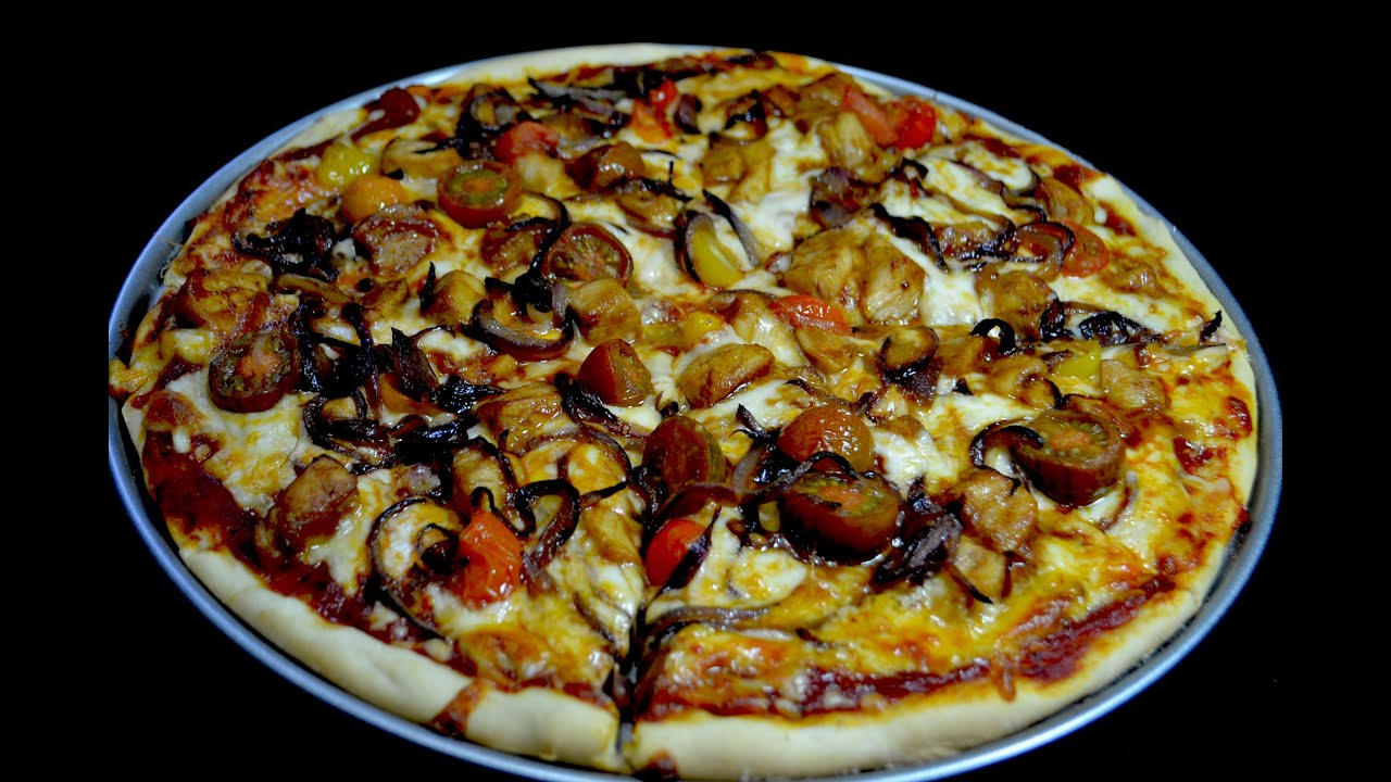 Pizza de pollo con vegetales youtube for Pizza de verduras