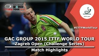 Zagreb Open 2015 Highlights: MORIZONO Masataka vs JAKAB Janos (R 32)