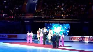 . Танцы на льду. Награждение Российских пар. Чемпионат Европы по фигурному катанию 2018