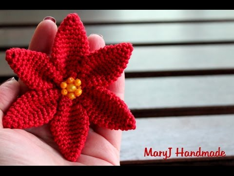 Stella Di Natale Alluncinetto How To Crochet A Poinsettia Youtube