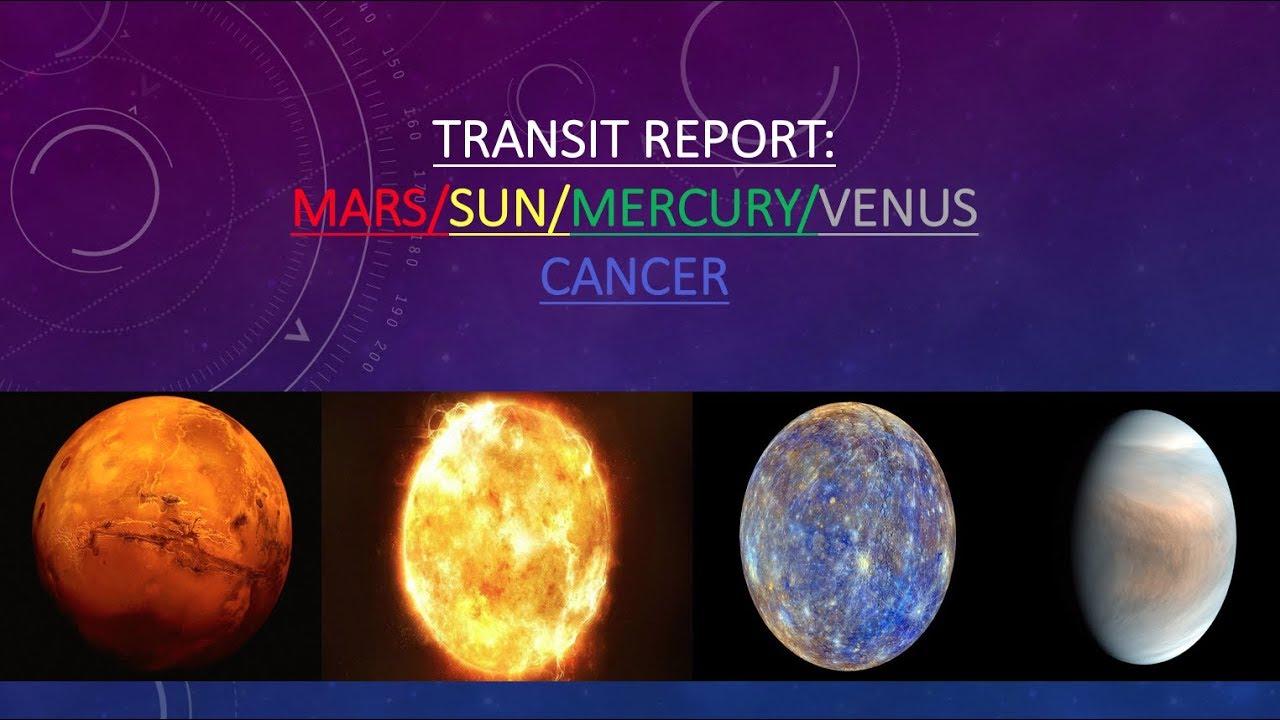 Sun/Mars/Mercury/Venus Conjunction in Cancer Transit Report