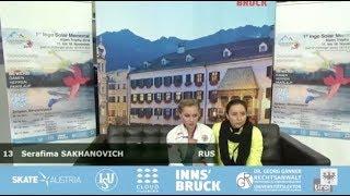 Серафима Саханович / Serafima Sakhanovich - Inge Solar Memorial Alpen Trophy SP - November 14, 2018
