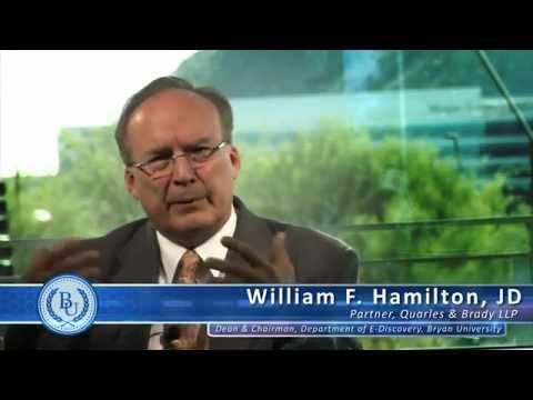 Bryan University - What is e-Discovery Project Management by William F. Hamilton