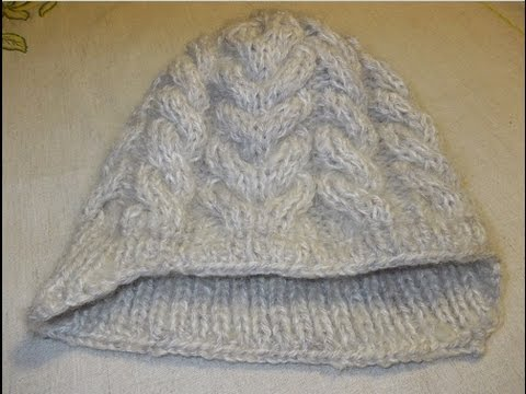 Вязание спицами шапка жгутами 814