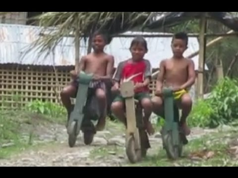 Bicycle made of wood in T'boli, South Cotabato