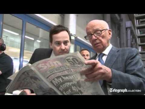 Rupert Murdoch oversees production of first Sun on Sunday