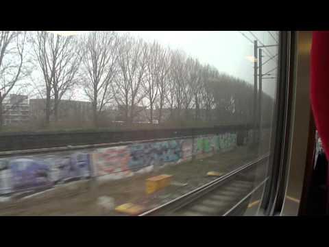 Amsterdam-to-Paris: Thalys train & Southampton Solent students in Paris 2011-02-01