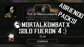 Mortal Kombat X Android Abriendo Pack de Mileena Vampiresa / Vampiress Mileena