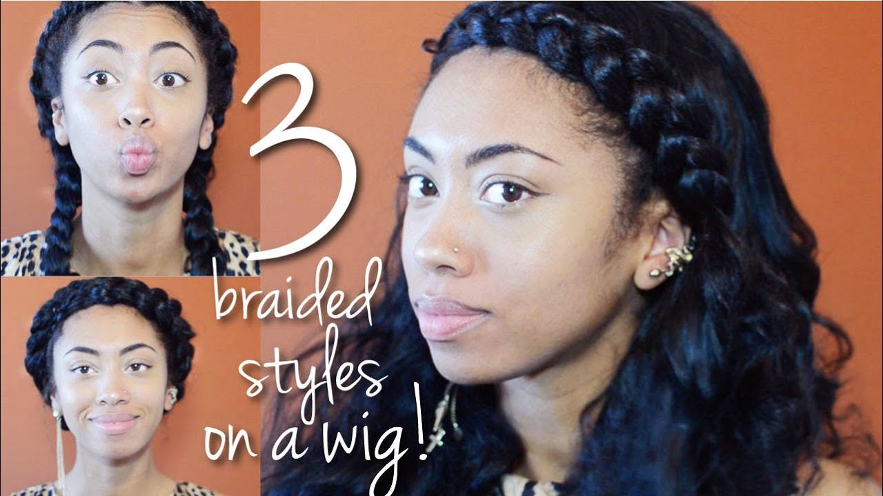 Wig tutorial: Braided hairstyles! Feat. Sensationnel Custom Lace Wig ...