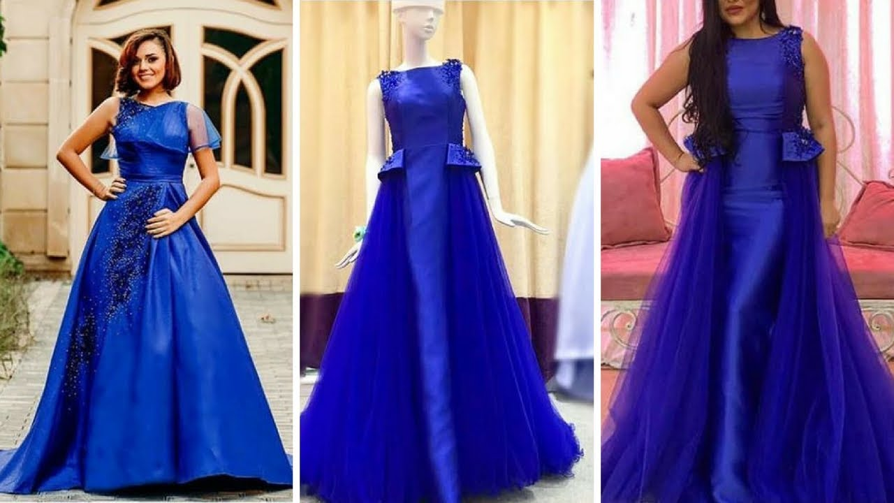 2018#Beautiful Long floor Touch Dresses Collection/ Gown Design ...