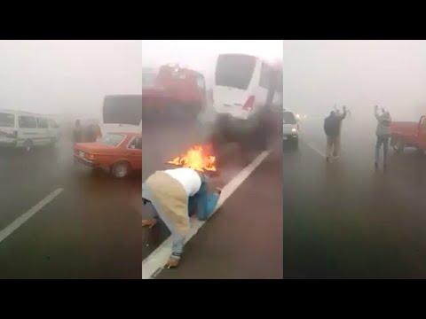 حادث طريق اسكندرية الصحراوى اليوم 3 ديسمبر 2017