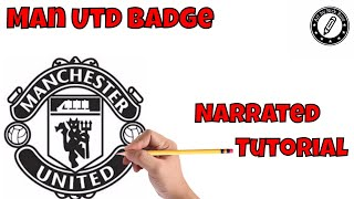 How to Draw Manchester United Badge| Draw soccer team badges|Drawing tutorial Man Utd badge