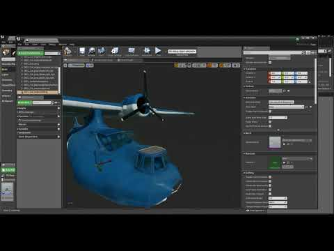 Unreal 4 - All The Steps Building Catalina In Pawn Class Blueprint With Shaders - Clikfoot