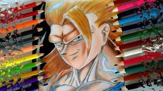 Desenhando Goku super sayajin 3 - Drawing Goku SSJ3