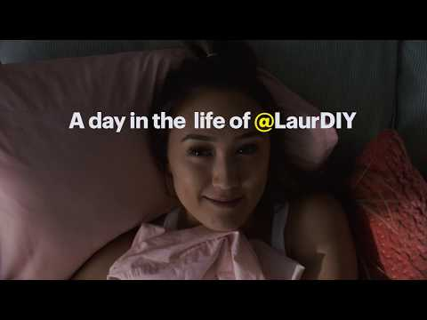 A day in the life of @LaurDIY.
