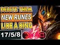 DELETE THEM LIKE A KING | 600+AD NEW RUNES JARVAN BUILD | TOP LANE JARVAN SEASON 8 League of Legends