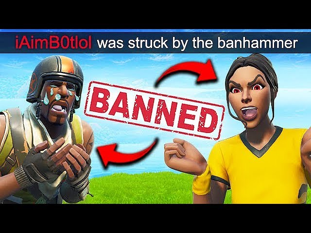 *2 HACKERS* GET BANNED LIVE!! - Fortnite Funny Fails and WTF Moments! #564