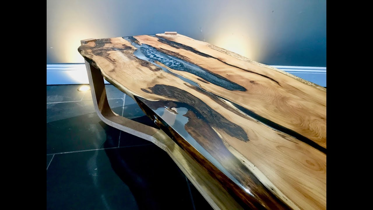 The Yew Epoxy Resin Coffee Table No 1 River Table Youtube
