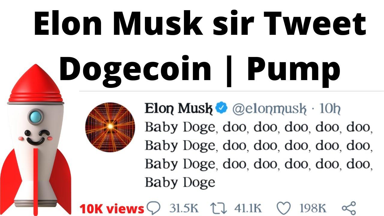 Elon Musk Tweet on Doge : Pump Dogecoin : Price Prediction ...