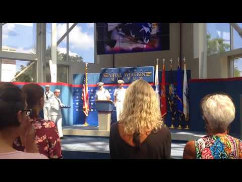 Gold Star ceremony at the Naval Aviation Museum at Pensacola NAS