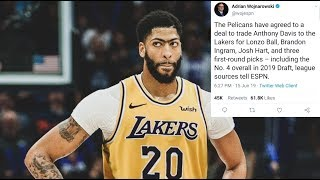 Official: The Pelicans trade Anthony Davis to the Lakers, the Lakers keep Kyle Kuzma