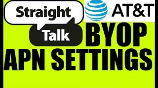 Straight Talk BYOP APN settings for AT&T Samsung Galaxy Express 3 4G LTE