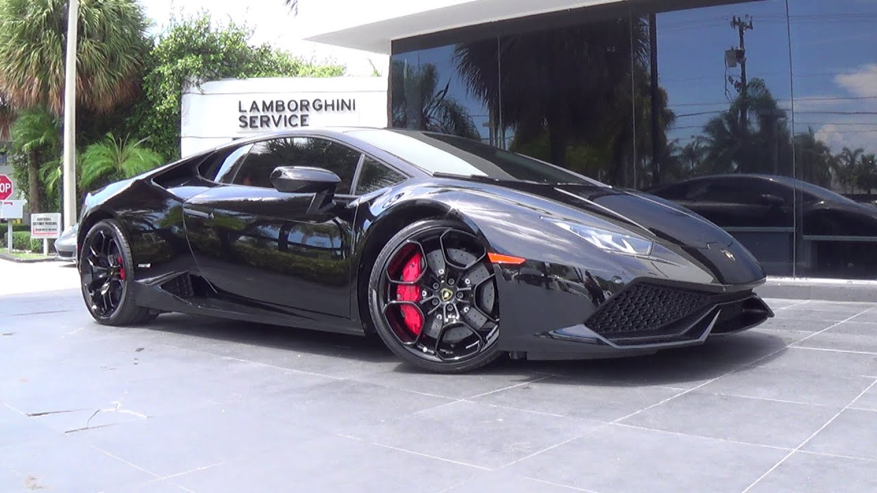 lamborghini huracan lp 610 4 black angry bull engine sound revs interior exterior drive youtube. Black Bedroom Furniture Sets. Home Design Ideas
