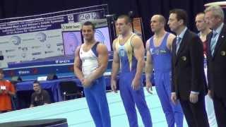 Чемпионат Европы по спортивной гимнастике 2013(Москва, 17-21 апреля 2013 года. Упражнения на кольцах (силачи), 2013-04-21T11:04:45.000Z)